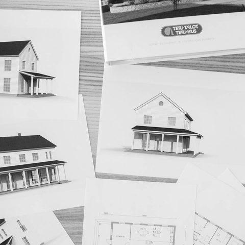 Valmis talomalli vai itse suunniteltu koti? Meillä on mahdollista molemmat ja kaikki siltä väliltä! / En färdig husmodell eller ett unikt designat hem? Vi erbjuder båda alternativen och allt där emellan! #talopaketti #koti #teritalot #terihus #hem #huspaket