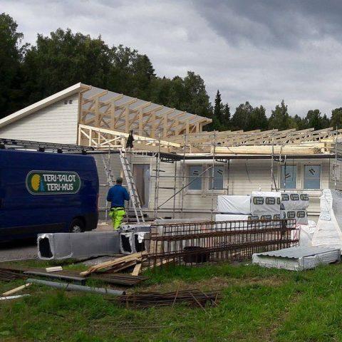 1-krs Vision asennus Espoossa / Montering av ett 1-plans Visio i Esbo  #teritalot #terihus #talopaketti #huspaket