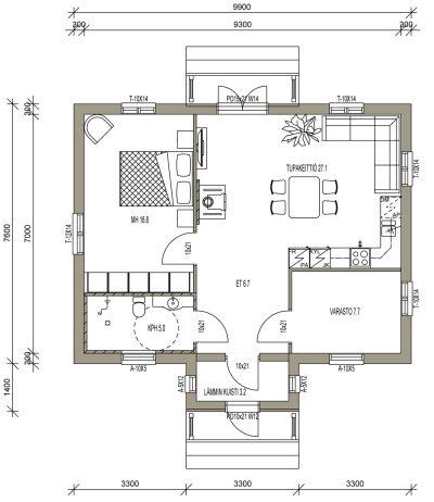 L-13187 / 69 m² - Teri-Talot