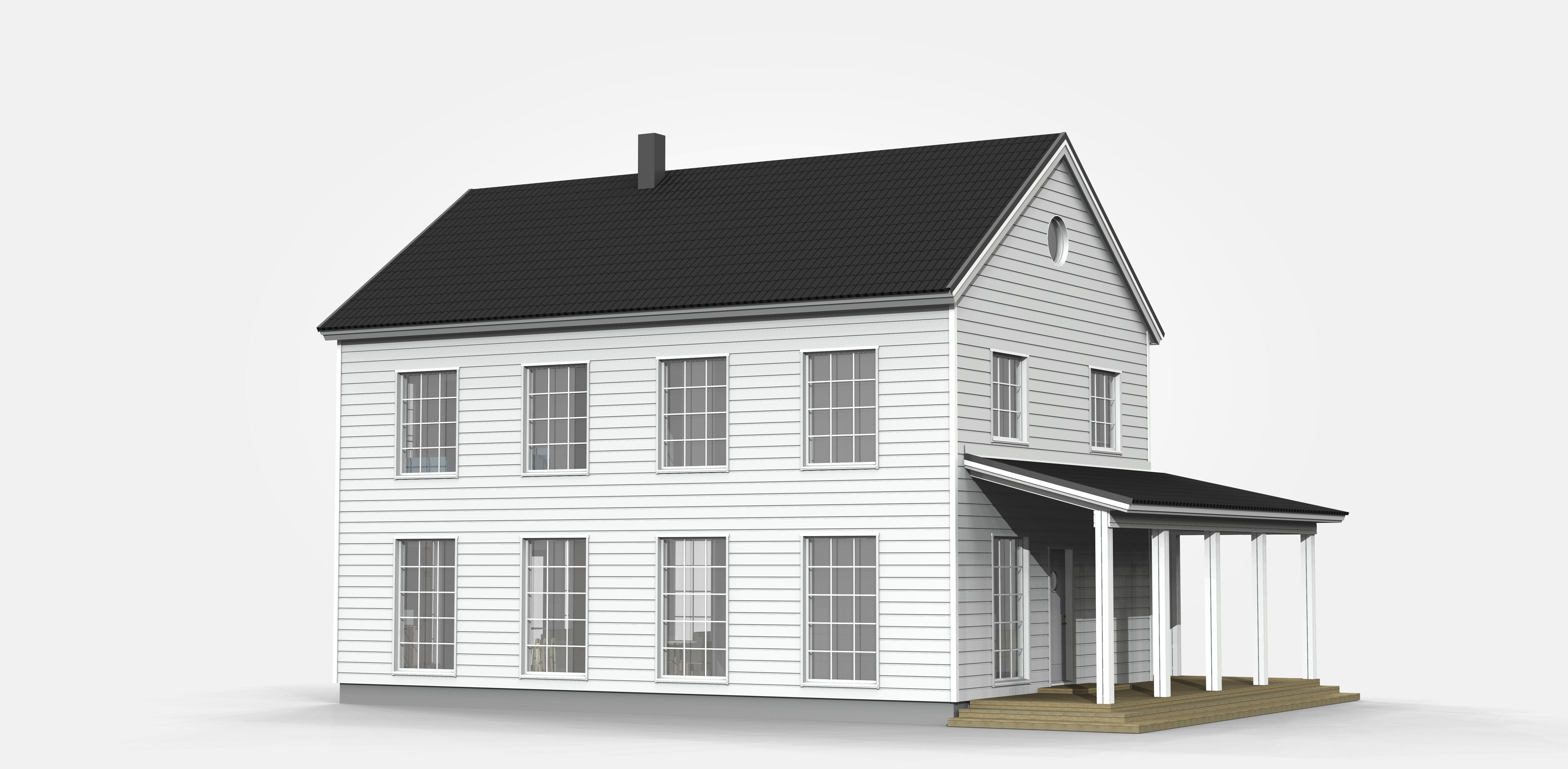 3D bild på hus