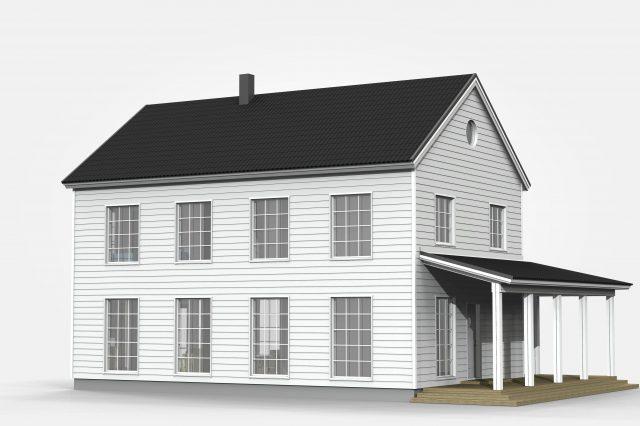 Talo Taika 3d-kuvina sekä ajatuksia talon arkkitehtuurista