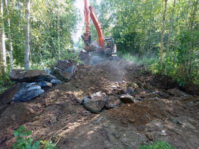Kaivuutyöt ja talon perustusten valmistelu - Teri-Talot