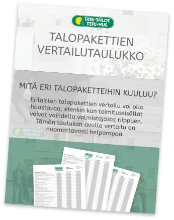 Talopaketti - Vertailutaulukko.