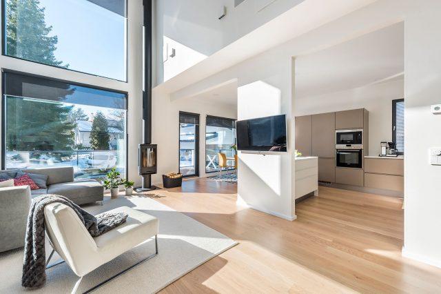 Moderni talo pääkaupunkiseudulla
